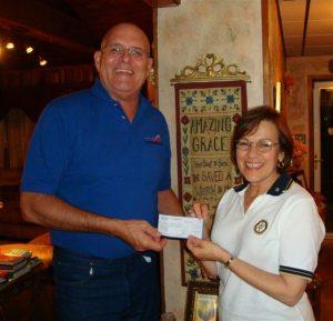 1st check to Deacon Lloyd, Haiti Mission, Inc